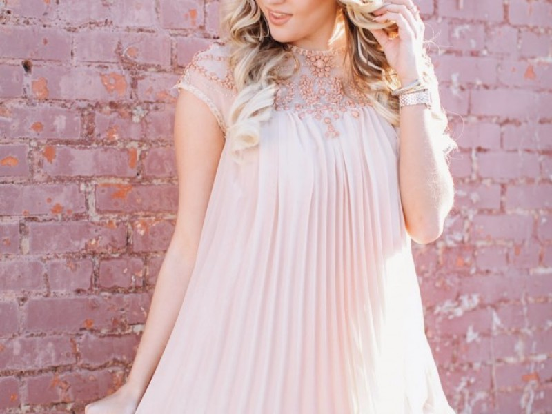 Embellished Pale Pink