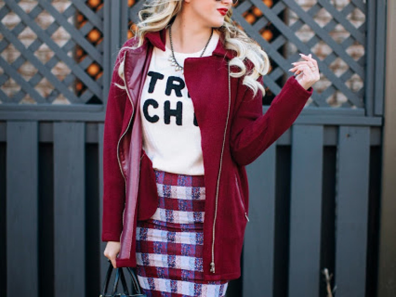 Plaid and Oxblood
