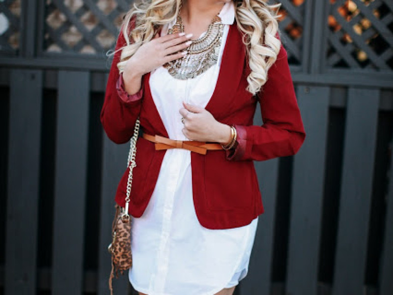 Oversized Button Down and Crimson