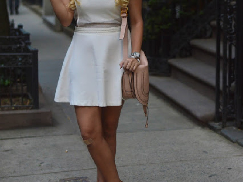 Little White Overlay Dress