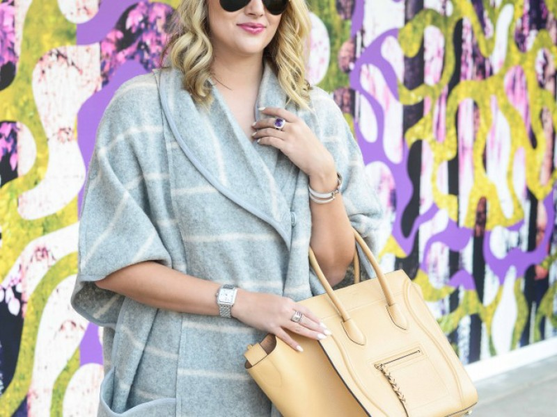 Grey Striped Cape