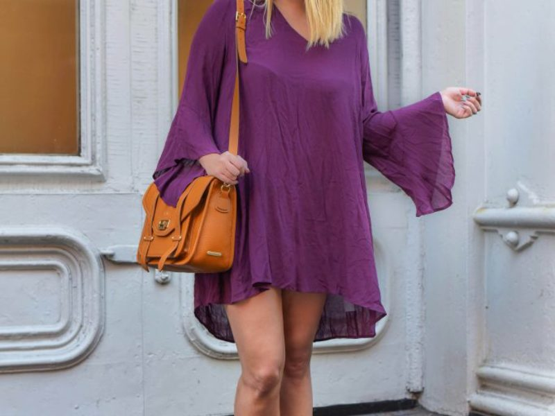 Plum Bell Sleeves