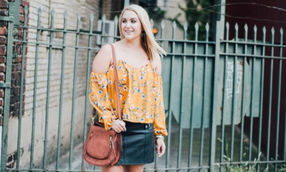 Floral Off the Shoulder for Fall