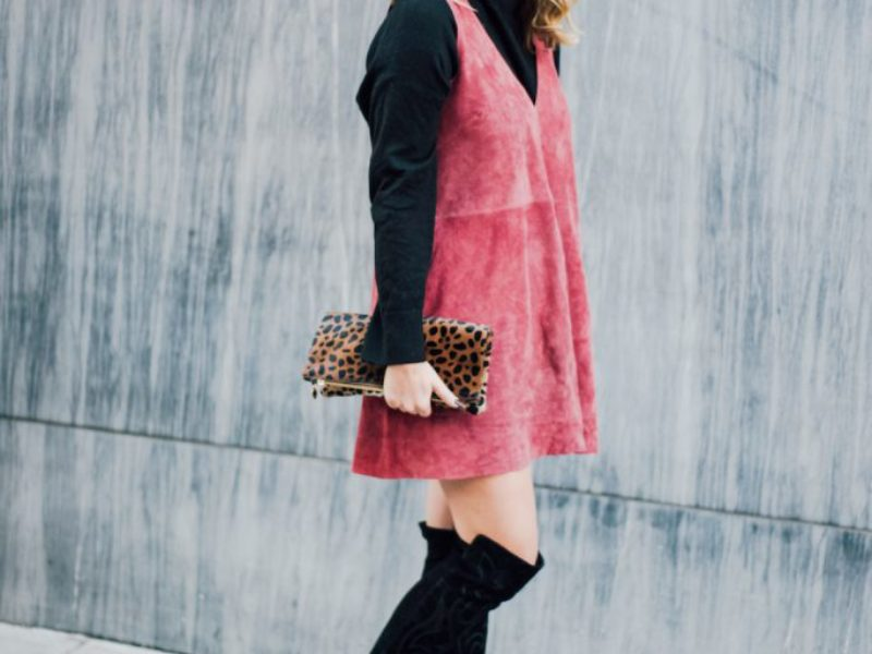 Pink Suede Dress + Shopbop Sale & Gift Guide
