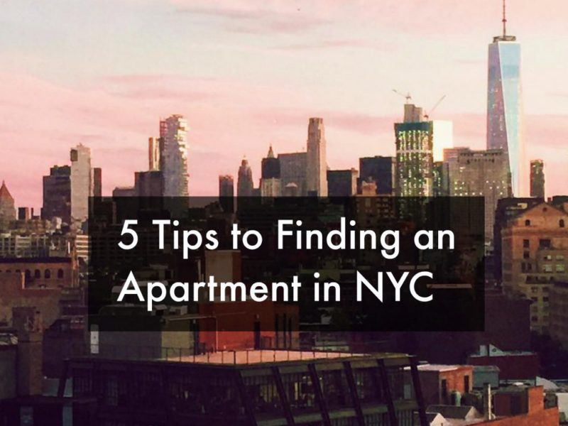 Top 5: Tips to finding an apartment in NYC