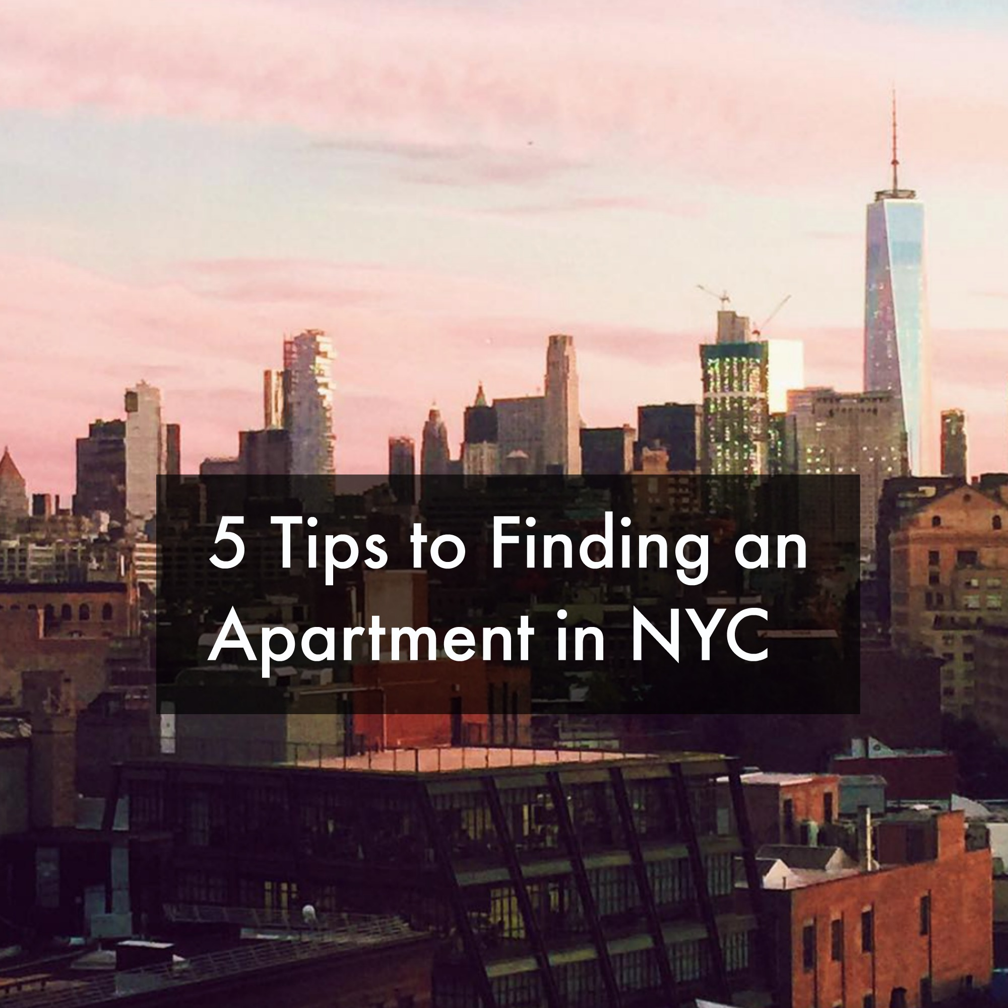 Find An Appartment: Top 5: Tips To Finding An Apartment In NYC