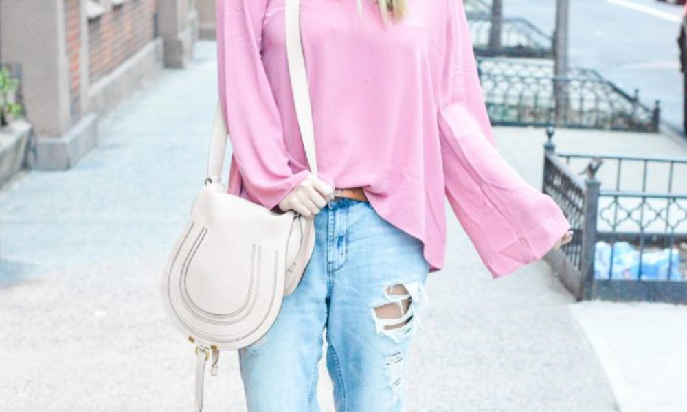 Pink Criss Cross Top