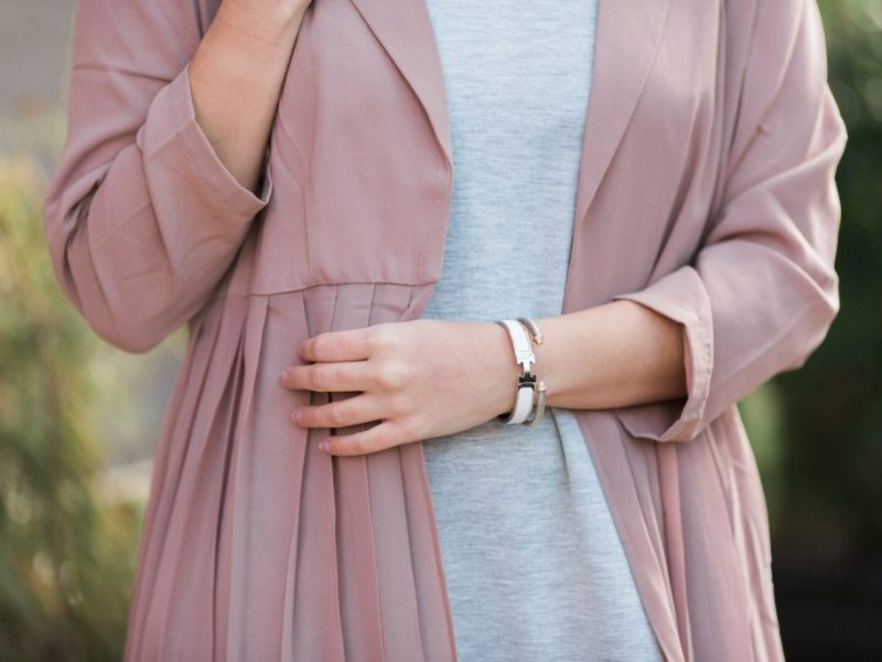 Pink Pleated Duster