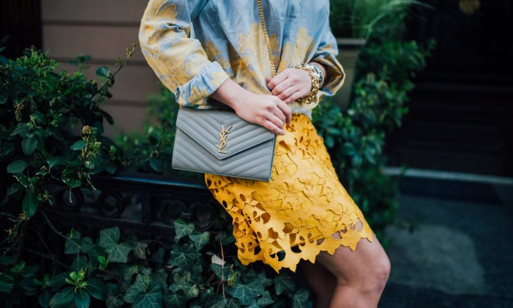 Sunny Lace Skirt for Spring