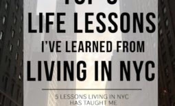 Top 5: Life Lessons I've Learned from Living in NYC