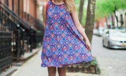 Floral Mosaic Swing Dress