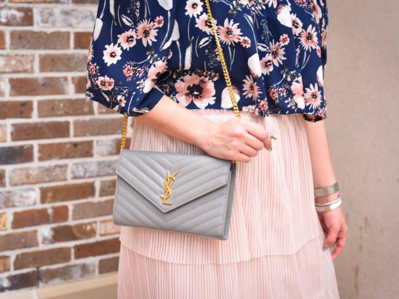 Blush Ruffled Midi Skirt