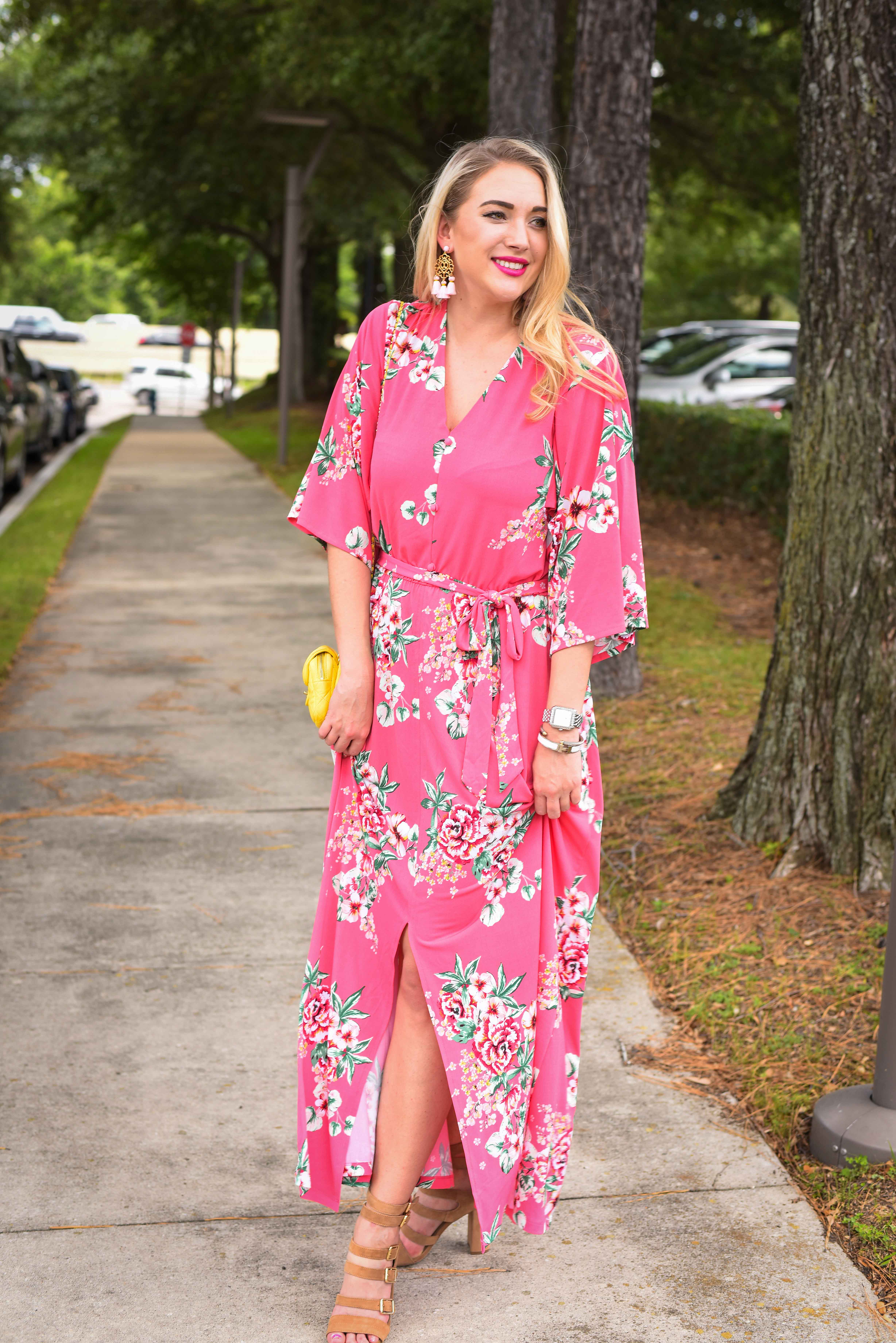 Pink floral maxi dress wednesdays weekly wishlist kayleighs kloset pink floral maxi dress wednesdays weekly wishlist mightylinksfo