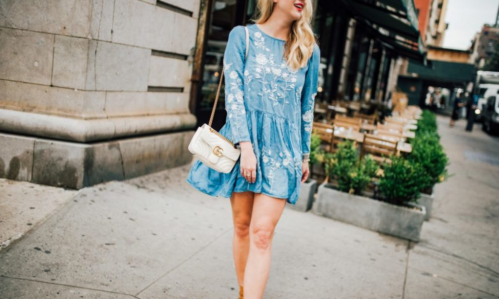 Embroidered Chambray