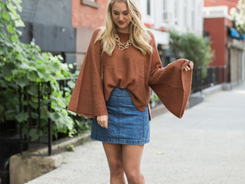 Belle Sleeved Burnt Orange Sweater