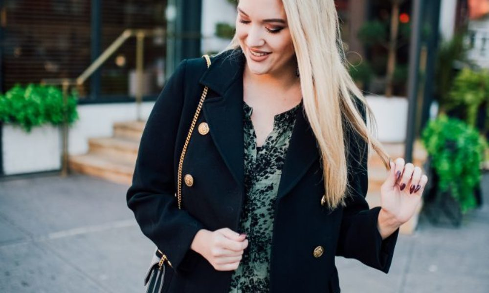 Olive Dress and The Perfect Black Coat