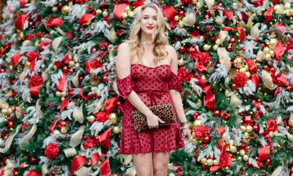 Red Polka Dot Christmas Dress